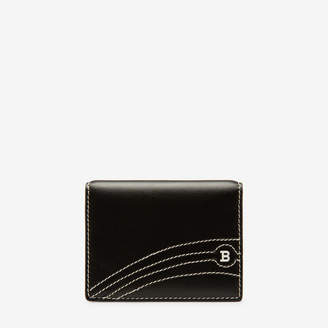 Bally Balder Black, Men's calf leather card holder in black