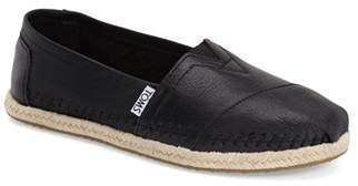 Women's Toms 'Classic - Leather' Espadrille Slip-On $97.95 thestylecure.com
