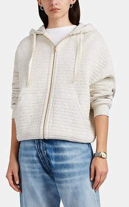 ATM Anthony Thomas Melillo Women's Channel-Stitched Cotton-Blend Hooded Jacket - Light Beige
