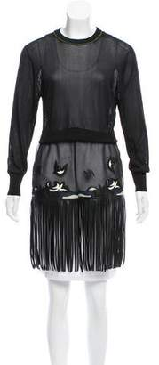 Toga Pulla Embroidered Fringe Knit Top