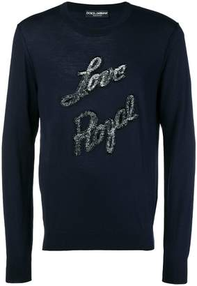 Dolce & Gabbana Love Royal patch jumper