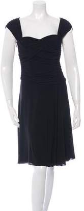 Alberta Ferretti Draped Midi Dress w/ Tags