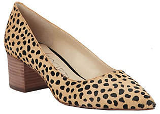 Sole Society Block Heel Pumps - Andorra Haircalf