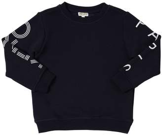 Kenzo Logo Sleeves Cotton Sweatshirt