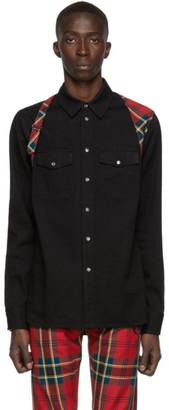 Alexander McQueen Black Denim Harness Shirt