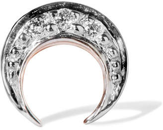 I+I II - Crescent Moon 14-karat Rose Gold Diamond Earring