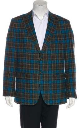 Simon Spurr Valdez Plaid Wool Blazer w/ Tags