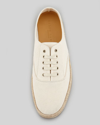 Ralph Lauren Lace-Up Canvas Espadrille Sneaker, Natural