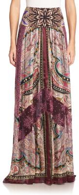 Etro Silk & Lace Maxi Skirt $2,435 thestylecure.com