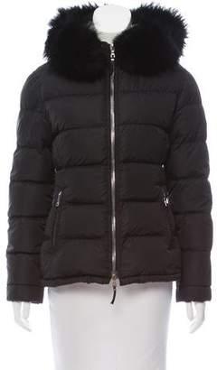 Prada Fur-Trimmed Puffer Jacket