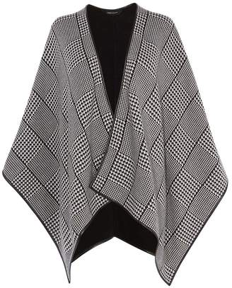 Karen Millen Dogtooth Check Cape
