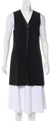 DKNY Wool Long Sleeveless Vest