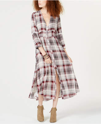 American Rag Juniors' Plaid Duster, Created for Macy's