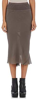 Rick Owens Women's Knee-Length Silk Skirt - Dark Gray