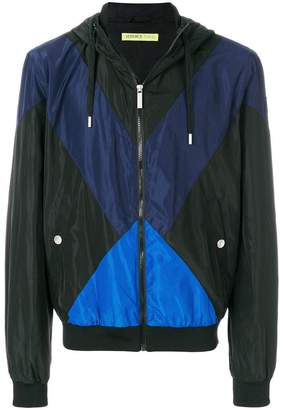 Versace colour block zipped jacket