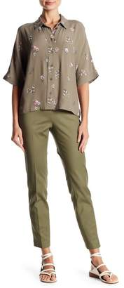 Vince Camuto Solid Woven Skinny Pants