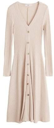 MANGO Ribbed buttonned dress