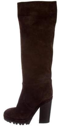 Michael Kors Suede Round-To Boots