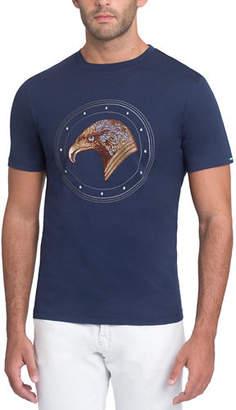 Stefano Ricci Stitched Eagle Graphic T-Shirt