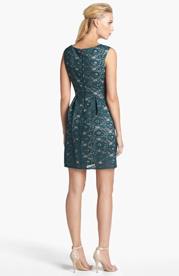 Donna Ricco Lace Fit & Flare Dress