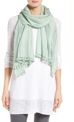 Women's Eileen Fisher Organic Cotton Scarf $138 thestylecure.com