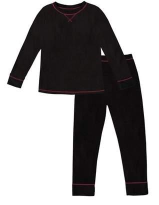 Cuddl Duds ClimateRight by Stretch Fleece Warm Long Underwear (Toddler Girls)