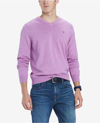 Tommy Hilfiger Men Signature Solid V-Neck Sweater