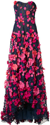 Marchesa Notte floral applique dress $1,095 thestylecure.com