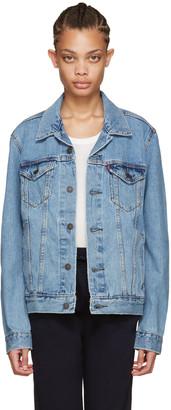 Levi's Blue Denim Trucker Jacket $85 thestylecure.com