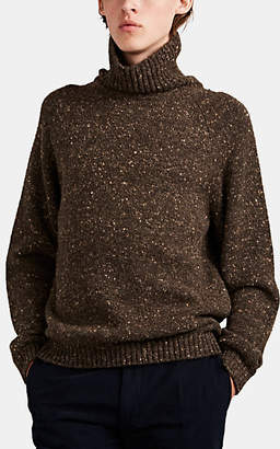 The Row Men's Asher Camel Hair Turtleneck Sweater - Brown