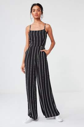 Urban Outfitters Striped Wide-Leg Jumpsuit