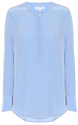 Equipment Henley silk blouse