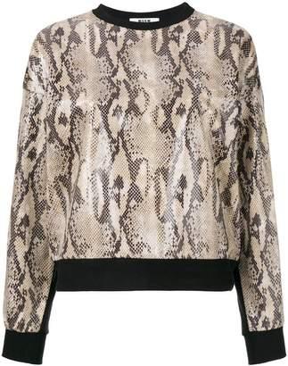 MSGM snakeskin print sweatshirt