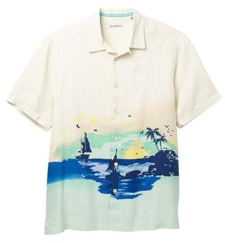 Tommy Bahama Sunset Sails Print Silk Shirt (Big & Tall)