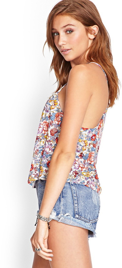 Forever 21 vibrant floral print cami