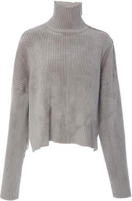 Sally LaPointe Chenille Boxy Turtleneck Sweater