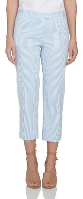 Women's Cece Stripe Seersucker Slim Pants $99 thestylecure.com