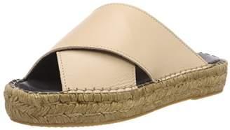 BEIGE Royal RepubliQ Women's Wayfarer Cross Sandal-Nude Loafers, 89