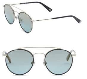 Web 51MM Double Bridge Round Sunglasses