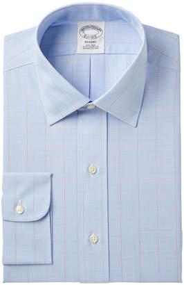 Brooks Brothers Men's Milano Slim-Fit Non-Iron Broadcloth Check Dress Shirt
