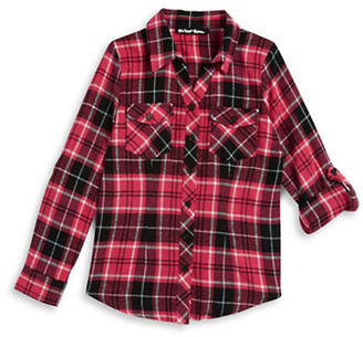 Planet Gold Girls 7-16 Plaid Flannel Top $38 thestylecure.com