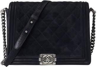 Chanel Boy Blue Suede Handbag