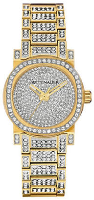 Wittnauer Adele Analog Mini Pave Goldtone Watch