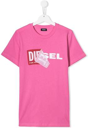 Diesel TEEN logo label T-shirt