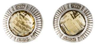 Judith Ripka Quartz & Diamond Earclip Earrings