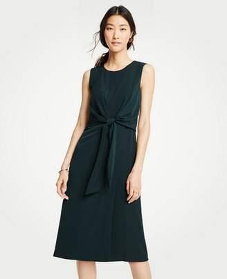 Ann Taylor Petite Tie Front Midi Dress