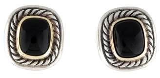 David Yurman Two-Tone Onyx Albion Earrings