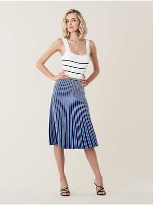 Diane von Furstenberg Yasmin Pleated Knit Midi Dress