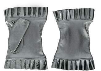 Gala Gloves frilled fingerless gloves