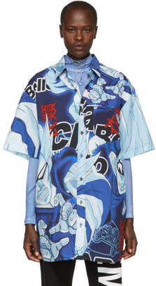 Vetements Blue Anime Bowling Shirt